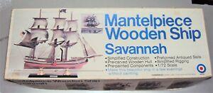 Entex Mantle Wooden Ship Savannah Unassembled Model Kit 1/72 Scale