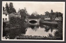 Postcard Eardisland near Leominster Herefordshire village bridge houses river RP