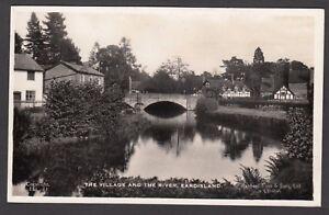 Postcard Eardisland near Leominster Herefordshire village bridge houses river RP