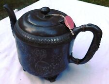 Antique Hand Made Ornate Pewter Teapot Pitcher