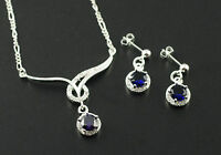 Schmuckset Halskette Ohrstecker 925 Sterling Silber pl Schmuck Set ST04
