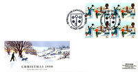 13 NOVEMBER 1990 CHRISTMAS ex BOOKLET FIRST DAY COVER BIRMINGHAM CATHEDRAL SHS a
