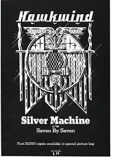 HAWKWIND  POSTER. SILVER MACHINE. Lemmy, Motorhead, Psychedelia