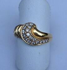 18kt Yellow Gold Diamond Cluster Ring Size 6.5