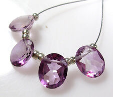 GENUINE PINK TOPAZ FACETED OVAL SOLITAIRE BEADS 9MM P40