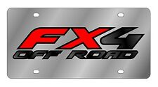 New Ford FX4 Off Road Red Logo Stainless Steel License Plate