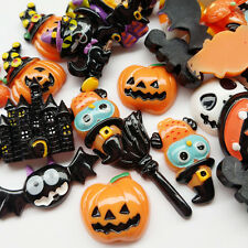 Ramdom 20pcs Mix Lots Resin Flatback Flat Back Halloween Craft Embellishment