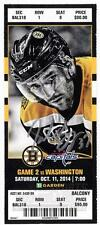 Patrice Bergeron Boston Bruins Signed Autographed 2014-15 vs Capitals Ticket -S9