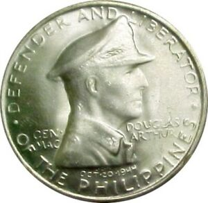 1947-S PHILIPPINES SILVER PESO ~ DOUGLAS MACARTHUR LIBERATOR GEM UNCIRCULATED