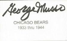 George Musso Signed 3x5 Index Card Bears