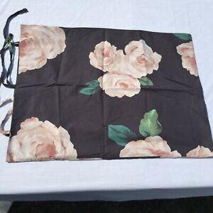 Pillowcase Standard Emily & Meritt Pottery Barn Teen Bed of Roses Black Floral