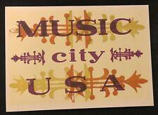 Hatch Show Print 1997 Postcard Music City USA Reproduced Postcard 2001