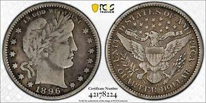 1896-O PCGS VF20 Barber Silver Quarter 25C