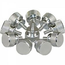 Rändelschrauben Silber 10er Pack
