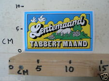 STICKER,DECAL TABBERT MAAND LENTEMAAND CARAVAN ? A SCHAPEN