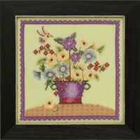 MILL HILL BLOOMS and BLOSSOMS Counted Cross Stitch Kit - FLORAL BOUQUET