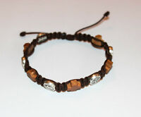 Catholic St.Benedict Bracelet with Olive Wood Crosses beads Medjugorje Handmade