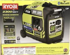 New Ryobi 2300-Watt Gasoline Powered Bluetooth Inverter Generator - RYi2322VNM