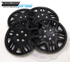 "Hubcap 15"" Inch Wheel Rim Skin Cover 4pcs Set Matte Black -Style 025 15 Inches-"