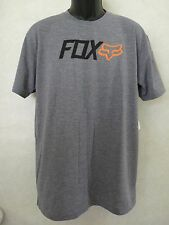 New Fox Racing Active Warm-Up Heather Graphite Tee T Shirt Large #21-5