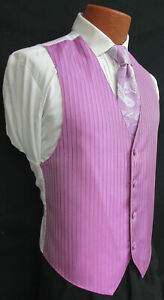 Men's Lilac Purple Jean Yves Tuxedo Vest & Choice of Tie Wedding Cruise Prom