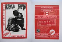 2015 SCA Andy Brown rare Detroit Red Wings goalie never issued produced #d/10