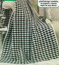 Crochet Pattern ~ Victorian Plaid Afghan ~ Instructions