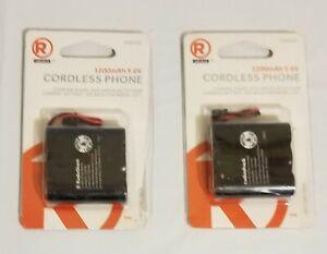Lot of 2 Replacement Battery Radio Shack 1200mAh 3.6V Cordless Phone 2302345