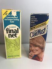 Vtg CLAIROL FINAL NET Clairmist Hair Spray Pump Bottle Extra Hold  8oz 12 Oz