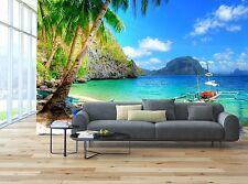 Tropical escape 3D Wallpaper Mural Wall Paper Background Furniture