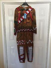 Fortnite Merry Marauder Gingerbread Man Costume  Size L