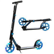 Portable Folding Sports Kick Scooter W/ LED Wheels Kids Teens Adjustable Outdoor