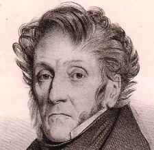 Portrait XIXe Général Giacomo Filippo de Meester Hüyoel Milano 1837