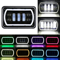 "4X6"" RGB LED Cree Light Bulbs DRL Hi-Lo Sealed Beam Headlamp Headlights CAR"