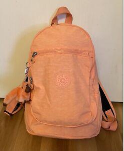 New Kipling Challenger Backpack Nylon Peachy Coral