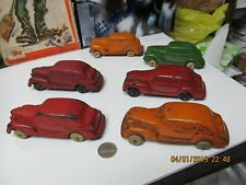 AUBURN RUBBER LOT OF 6- 1930s OLDSMOBILES & PLYMOUTH GANGSTER CARS EXCELLENT USA