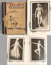 Rare Antique 1920s Art Deco Risque Photogravure Nude Women ARTIST YEARBOOK, NR