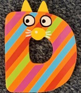 "Tatiri Name Letters ""Letter D"" Orange Brand New"