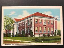 Postcard Cambridge Springs PA - Washington Hall Alliance College