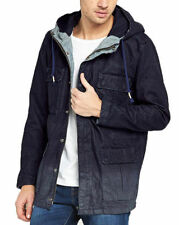 HUGO BOSS Hip Length Cotton Zip Men's Coats & Jackets