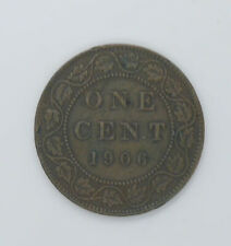 1906 Canadian coin One cents VF-20 condition