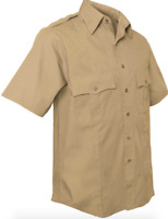 Khaki Law Enforcement Sheriff Uniform Shirt Dress/Casual Short Sleeve / Costume