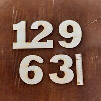 Deutsche Ziffern 3 6 9 12 aus Holz 50 mm Höhe Basteln Deko Arabische Zahlen