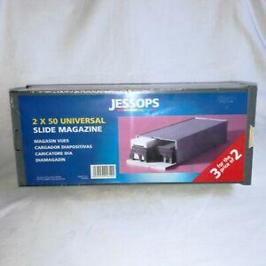 JESSOPS UNIVERSAL SLIDE MAGAZINE - 2 X 50 SLIDES IN CASE - BRAND NEW.