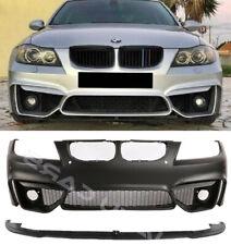 PARAURTI ANTERIORE PER BMW E90 E91 08-12 LCI M4-LOOK NEW BUMPER PDC FENDINEBBIA