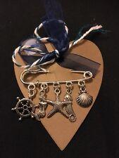 Under The Sea Nautical Pin Brooch. Mermaid Shell Seahorse Christmas Secret Santa