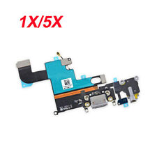 """iPhone 6 4.7"""" Charger Charging Dock Port Audio Jack Flex Cable Gray USa LOT"""