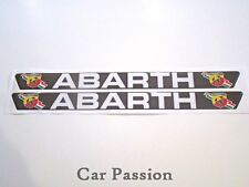 ABARTH DOOR SILL PROTECTOR FIAT 500 CINQUECENTO PUNTO BRAVO CARBON LOOK PAIR