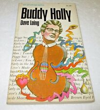 BUDDY HOLLY PAPERBACK BOOK by DAVE LAING 50 PHOTOGRAPHS FIRST EDITION
