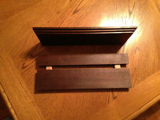 floating shelves 12 x 4 x 3/4 handcrafted out of solid peruvian walnut wood,set